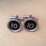 Cufflinks - Number 10 - Black