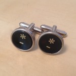 Black Asterisk Key Cufflinks