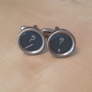 Gray Question Mark Key Cufflinks