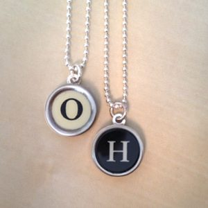 Custom Typewriter Key Necklaces