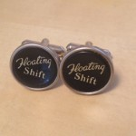 Floating Shift Typewriter Key Cufflinks