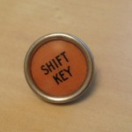 Shift Key Orange - Large Pin