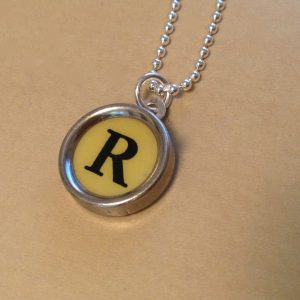 Yellow R Typewriter Necklace