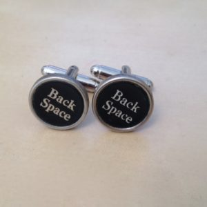 cufflink - black back space